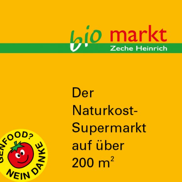 Bio Markt Zeche Heinrich, Corporate Design, Grafit Werbeargentur, Essen